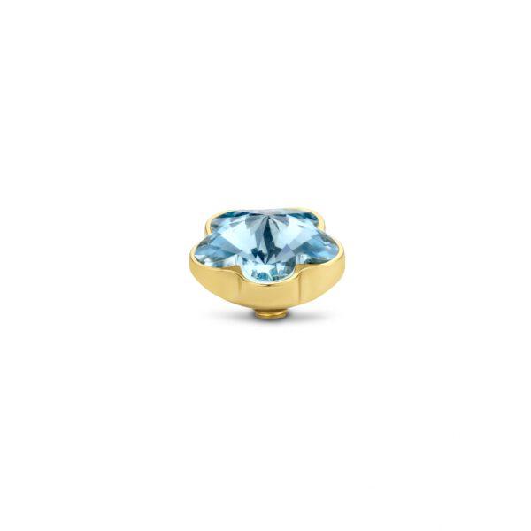 Melano Twisted Flower Stone goud