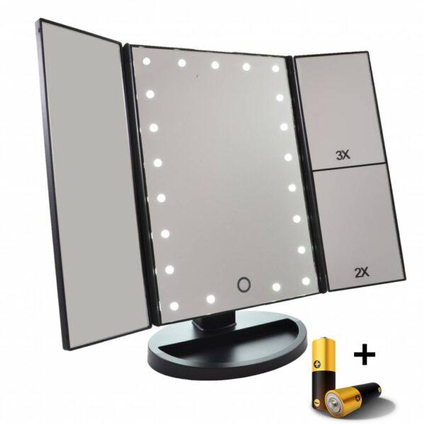 drieluik-led-make-up-spiegel-23-maal-vergroting