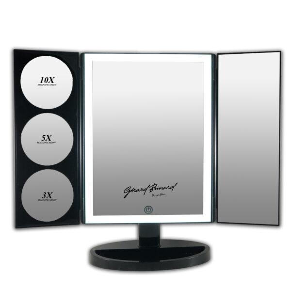 Drieluik LED Make-up Spiegel touch Knop 1x 3x 5x 10x Vegroting