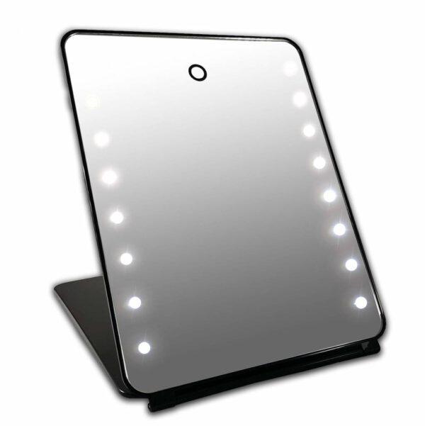 I Pd Make-up Spiegel Zwart 16x LED Met Touch Sensor