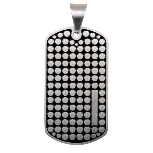ixxxi men hanger pendant dog tag dots