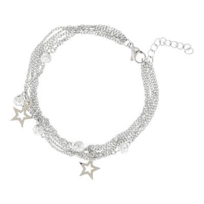 chain ball star zilver