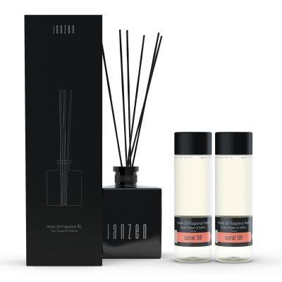 Janzen Home Fragrance Sticks XL wit - inclusief 2 vullingen coral