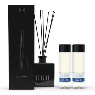 Janzen Home Fragrance Sticks XL zwart - inclusief 2 vullingen blue