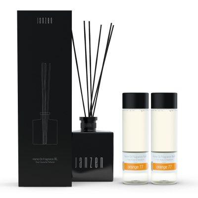 Janzen Home Fragrance Sticks XL zwart - inclusief 2 vullingen orange 77