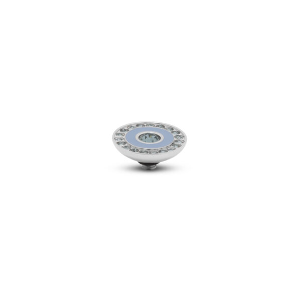 Melano Twisted Stone Resin Crystal Zilver 292