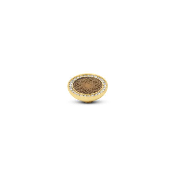 Melano Vivid Stone Engr Resin CZ Goud 304