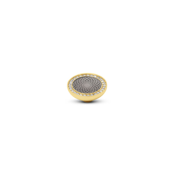 Melano Vivid Stone Engr Resin CZ Goud 308