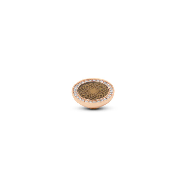 Melano Vivid Stone Engr Resin CZ Roségoud 304